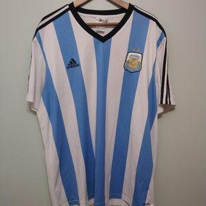 3/22$ ADIDAS CLIMALITE AFA mens stripe shirt 2XL
